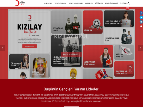 Turk Kızılay Youth Website