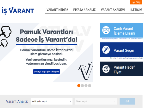 İş Varant Website